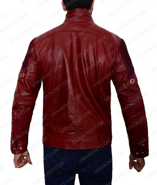 Chris Pratt Guardians of The Galaxy Peter Quill Ravager Leather Jacket