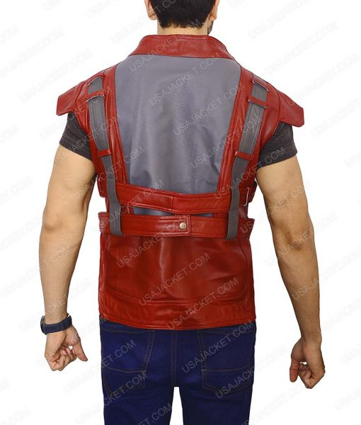 Chris Pratt Guardians of The Galaxy Star Lord Leather Vest