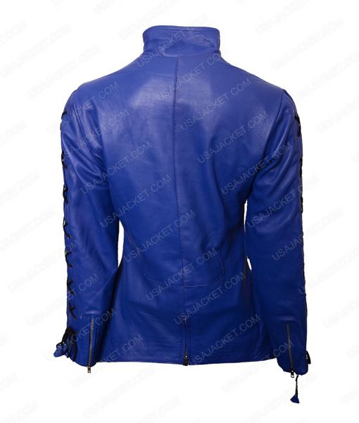 Hannah John Dutch Killjoys Blue Leather Jacket
