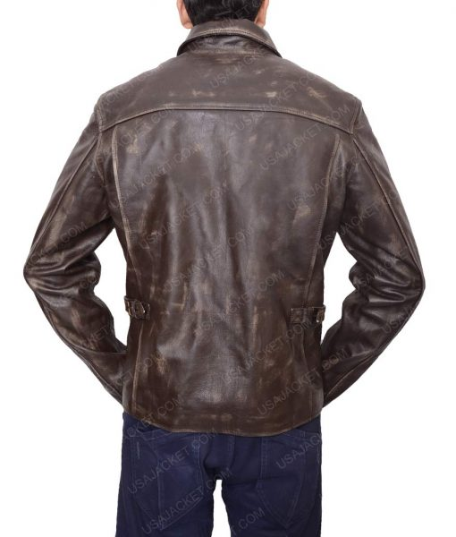 Indiana Harrison Ford Distressed Brown Jacket