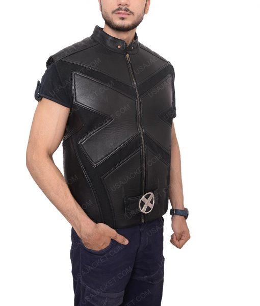 Hugh Jackman X Men Origins Wolverine Black Leather Vest