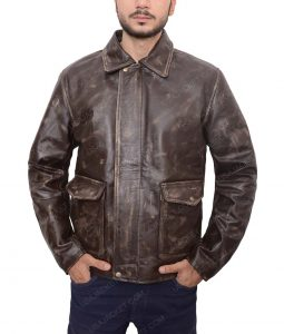 Harrison Ford Indiana Jones Leather Brown Jacket