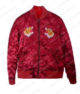 Jessica Henwick Iron Fist Colleen Wing Red Satin Bomber Jacket