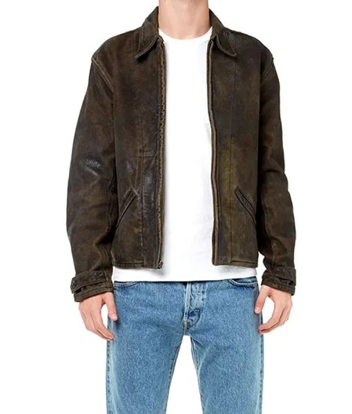 James Bond Skyfall Dark Brown Leather Jacket