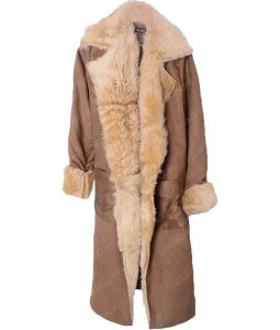 Caity Lotz Legends of Tomorrow Sara Lance Brown Cotton Fur Coat