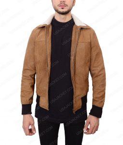 Mafia 2 Vito Scaletta Brown Bomber Leather Jacket