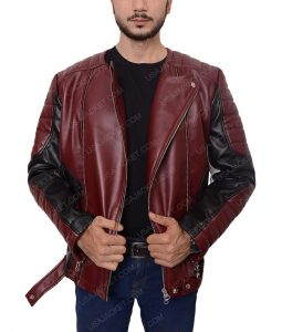 Men Red and Black Jacket
