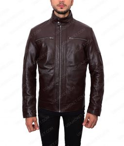 Dark Brown Leather Jacket For Men