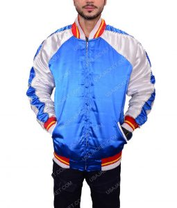 Blue Bomber Varisity Jacket For Men