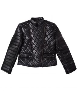 Nicki Minaj Black Quilted Leather Jacket