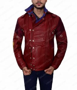 Peter Quill Guardians of The Galaxy Ravager Leather Jacket