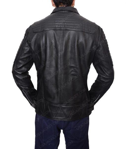 Burberry Quilted Biker Black Jacket