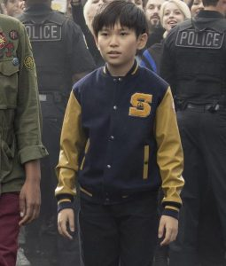 Philip Zhao Ready Player One Sho Yellow And Blue Varsity letterman Jacket