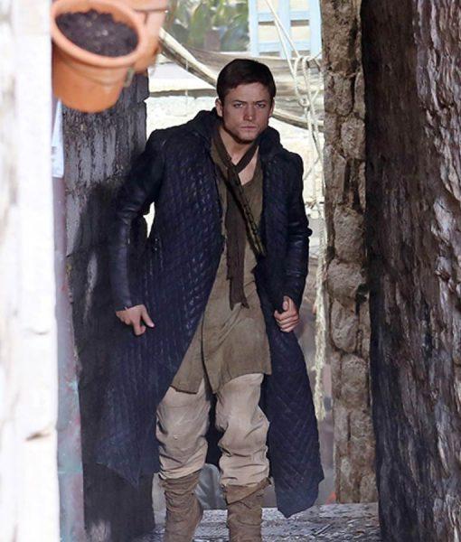 Taron Egerton Robin Hood Trench Coat