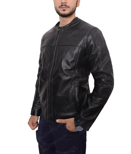 Roland Sands Slimfit Black Leather Motorcycle Jacket