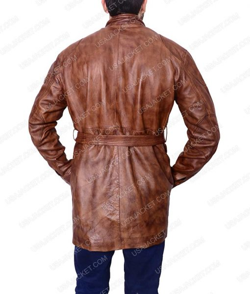 Brad Pitt The Curious Case of Benjamin Button Brown Leather Jacket