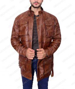 The Curious Case of Benjamin Button Brad Pitt Brown Jacket