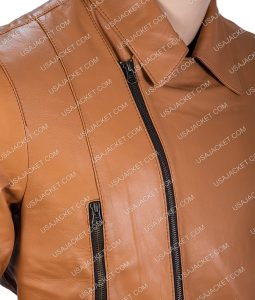 Tony Curtis The Persuaders Danny Wilde Brown Leather Jacket