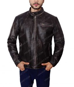 Tom Cruise Black Motor Bike Leather Jacket