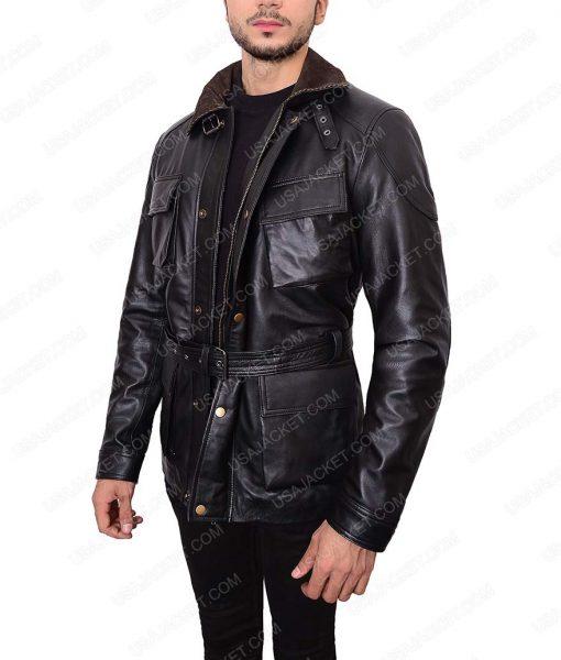 The Dark Knight Rises Tom Hardy Bane Black Leather Jacket