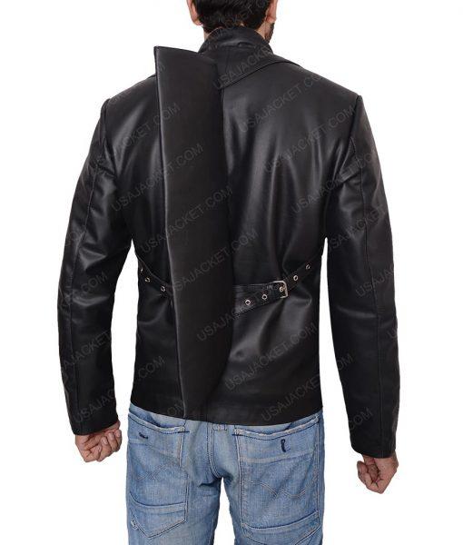 Rodrigo Santoro Westworld Hector Escaton Military Black Leather Jacket