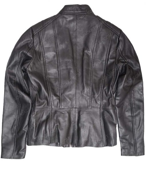 Womens Lambskin Black Scuba Jacket