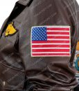captain Marvel Carol Danvers Brown Leather Jacket