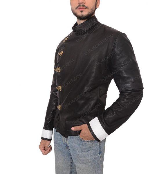 Michael Shannon Slimfit Black Leather Jacket