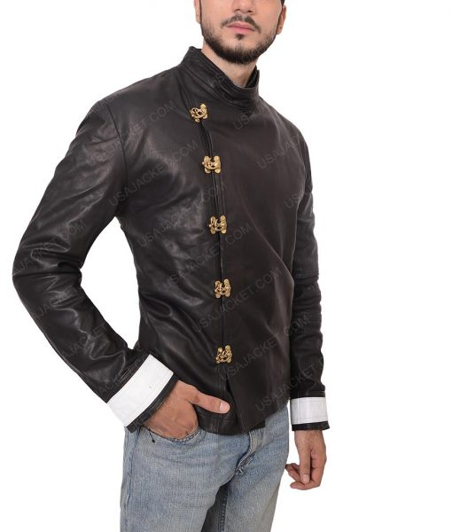 Beatty Fahrenheit 451 Michael Shannon Black Leather Jacket