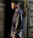 Cloak & Dagger Aubrey Joseph Blue and Black Varsity Jacket