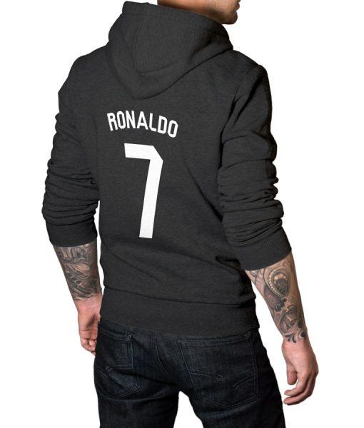 Ronaldo No 7 Logo Hoodie