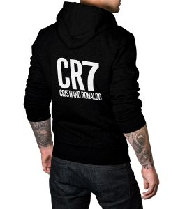 Cristiano Ronaldo Black Pullover Hoodie