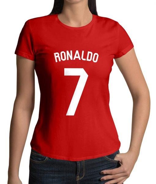 Ronaldo No 7 Logo T shirt