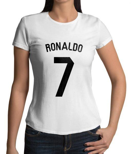 Cristiano Ronaldo No 7 Logo Half Sleeves T shirt