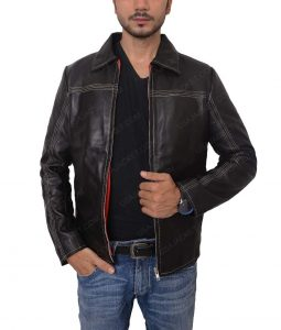 Replica Daniel Craig Layer Cake Leather Jacket