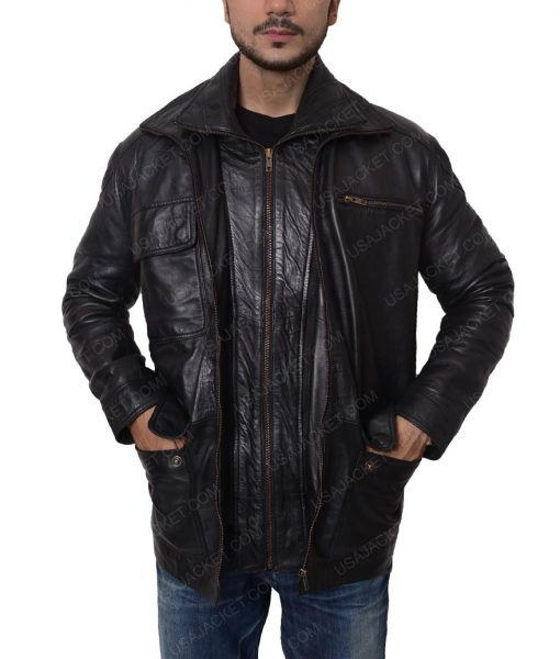 Dear White People Reggie Green Black Leather Jacket