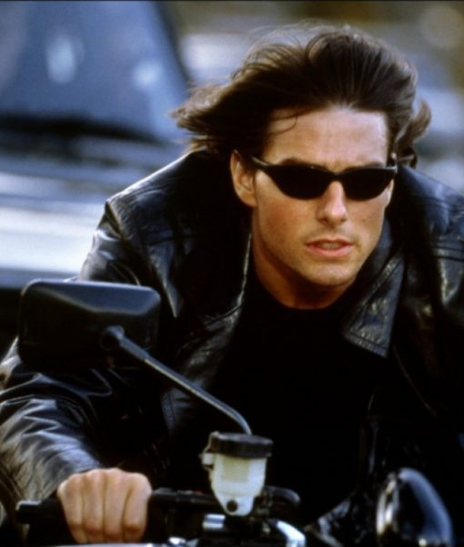 Mission Impossible 2 Tom Cruise Black Leather Jacket