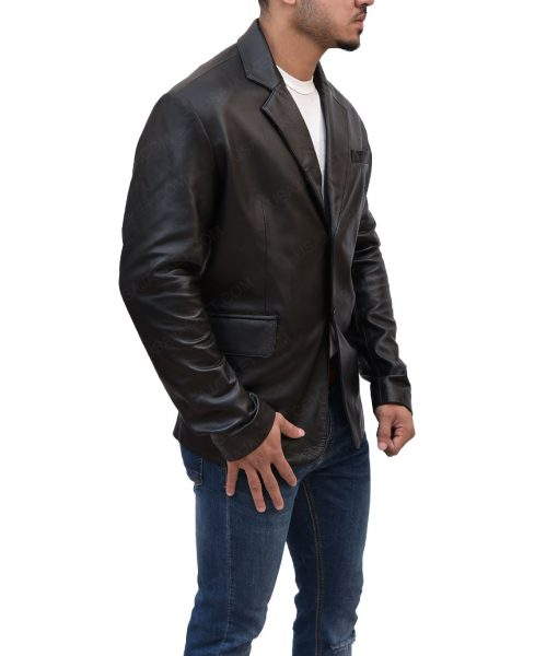 Ethan Hunt Mission Impossible Black Leather Jacket