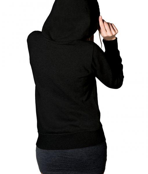 Fortnite White Logo Black Gaming Pullover Hoodie