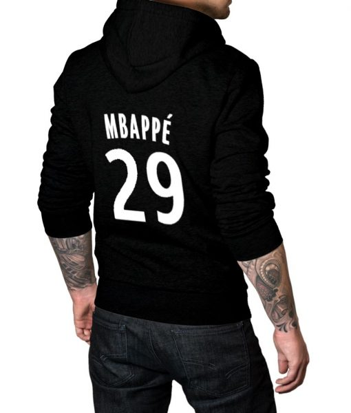 French footballer Mbappe No 29 Logo Hoodie For Men