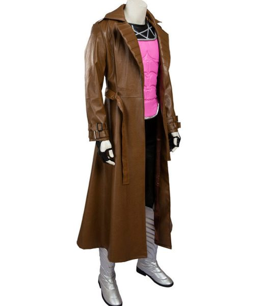 Gambit Brown Leather Remy LeBeau Leather Coat