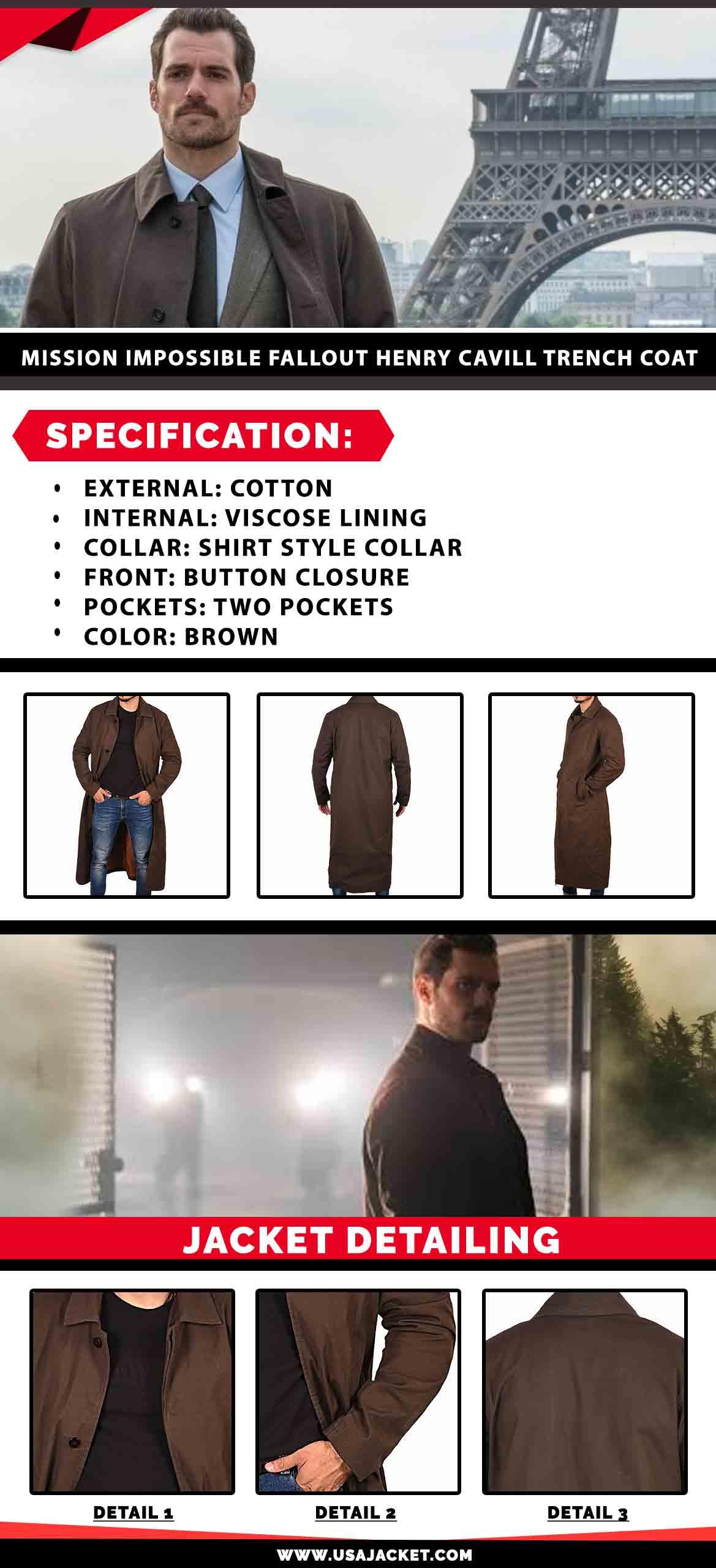 Henry Cavill Trench Coat