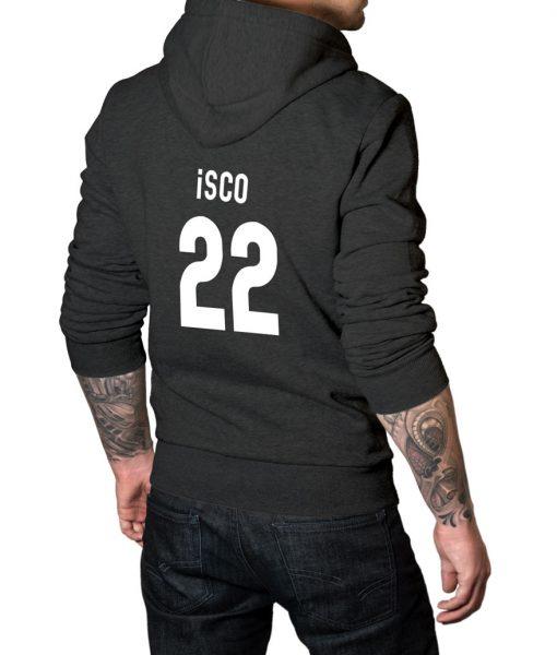 Spanish footballer Isco No 22 Logo Hoodie