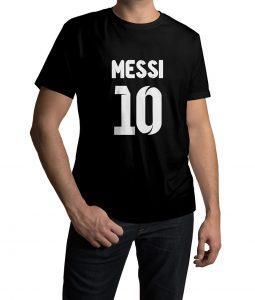 Messi No 10 Logo Half Sleeves T shirt