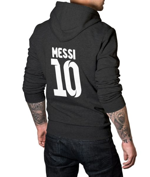 No 10 Logo Pullover Hoodie For Messi Fans