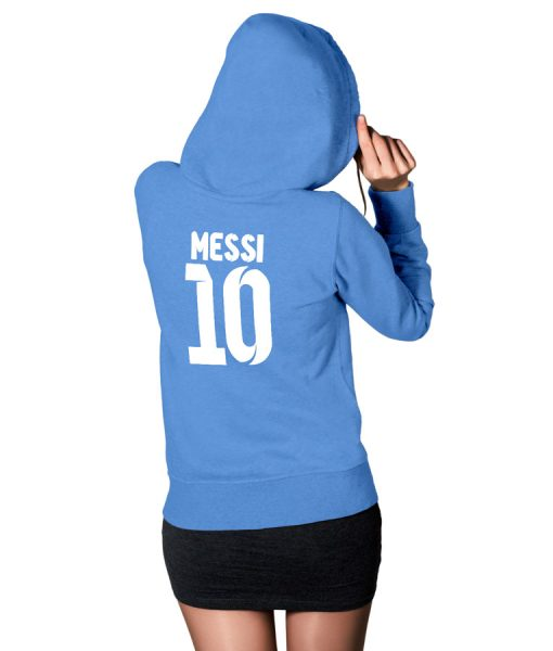 Messi Logo Pullover Hoodie For Women