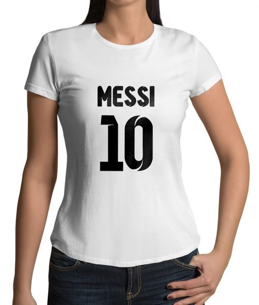 Lionel Messi No 10 Logo Half Sleeves T shirt