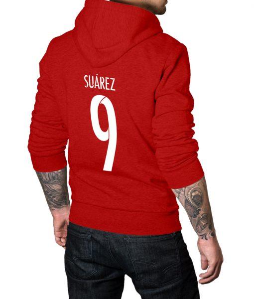 Luis Suarez No 9 Logo Hoodie