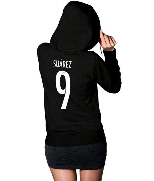Luis Suarez No 9 Logo Pullover Hoodie