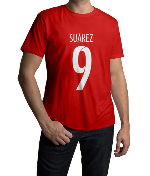 Luis Suarez Vector Logo T shirt For Men